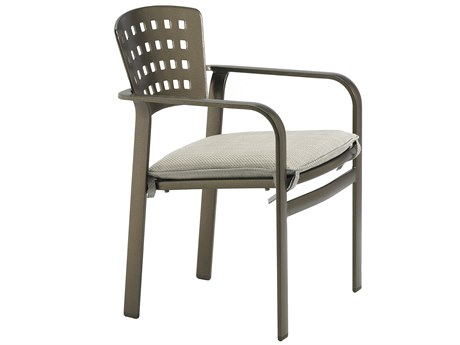 Tropitone Impressions Cafe Aluminum Cushion Stackable Dining Arm Chair