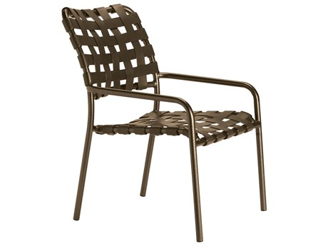 Tropitone Kahana Cross Strap Aluminum Stackable Dining Arm Chair