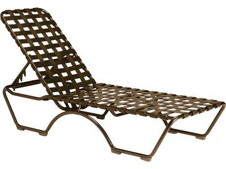 Tropitone Kahana Cross Strap Aluminum Stackable Chaise Lounge