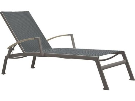 Tropitone Valora  Aluminum Sono Chaise Lounge with Arm Accents