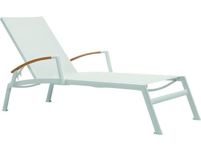 Tropitone valora aluminum sono chaise lounge with arm for Accent chaise lounge