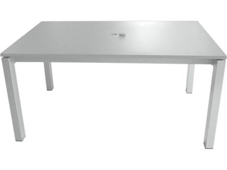 Tropitone Valora Cast Aluminum 63 x 39 Rectangular KD Dining Umbrella Table