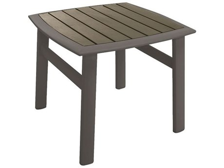 Tropitone Valora Cast Aluminum 19 Curved Square KD Tea Table