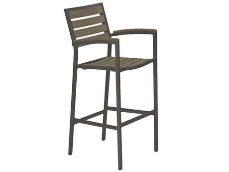 Tropitone Valora Charcoal Aluminum Faux Wood Bar Stool