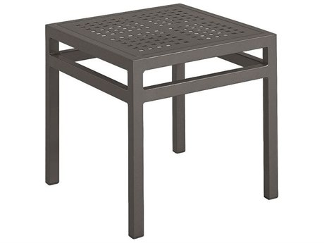 Tropitone Valora Cast Aluminum 18''Wide Square Tea Table PatioLiving