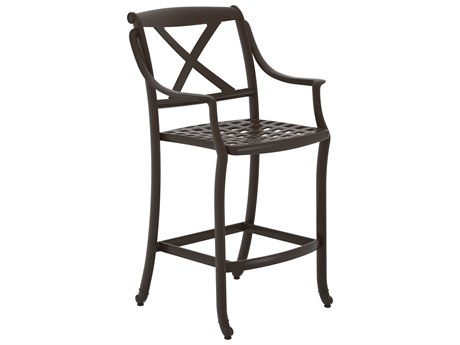 Tropitone Belmar X-back Cast Aluminum Stationary Bar Stool