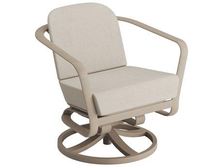 Tropitone Open Cushion Aluminum Swivel Rocker Lounge Chair