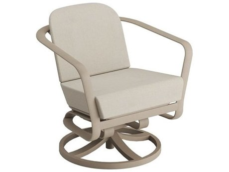 Tropitone Open Cushion Relaxplus Aluminum Swivel Rocker Lounge Chair