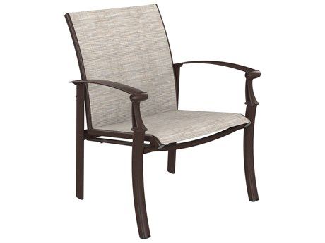 Tropitone Cantos Relaxed Sling Aluminum Dining Arm Chair