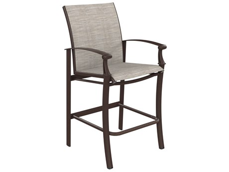 Tropitone Cantos Relaxed Sling Stationary Bar Stool
