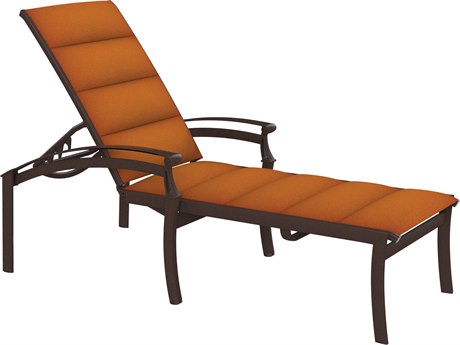 Tropitone Cantos Padded Sling Aluminum Chaise Lounge
