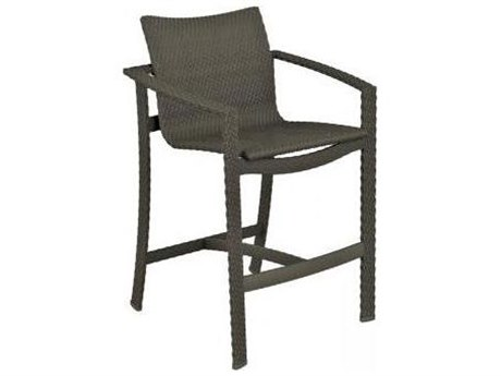 Tropitone Vela Woven Aluminum Bar Stool with Seat Pad