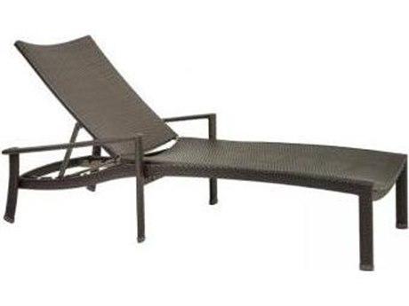 Tropitone Vela Woven Aluminum Chaise Lounge with Seat Pad
