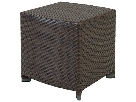Tropitone Vela Woven Aluminum 17 Square Tea Table