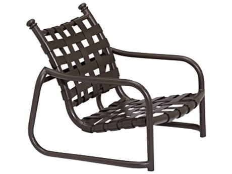 Tropitone La Scala Cross Strap Aluminum Stackable Sand Chair