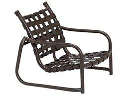 Tropitone La Scala Cross Strap Aluminum Stackable Sand Chair