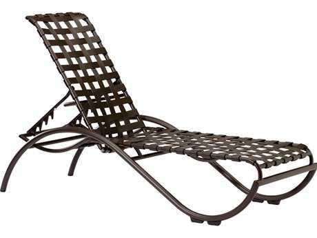 Tropitone La Scala Cross Strap Aluminum Stackable Chaise Lounge
