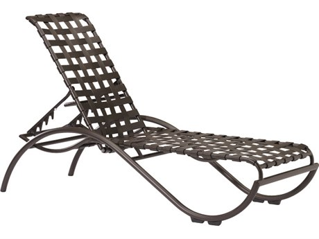 Tropitone La Scala Cross Strap Aluminum Stackable Chaise Lounge
