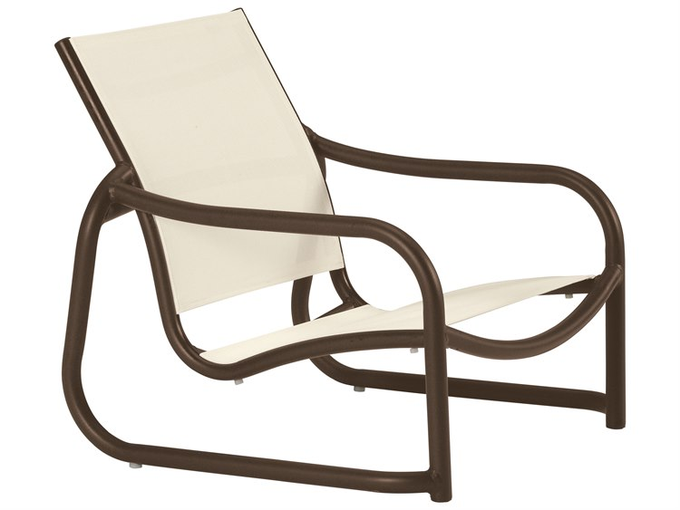 Tropitone La Scala Relaxed Sling Aluminum Stackable Lounge Chair