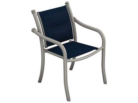 Tropitone La Scala Padded Sling Aluminum Dining Arm Chair