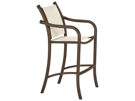 Tropitone La Scala Relaxed Sling Aluminum Bar Stool