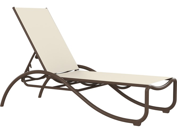 Tropitone La Scala Relaxed Sling Aluminum Stackable Chaise Lounge