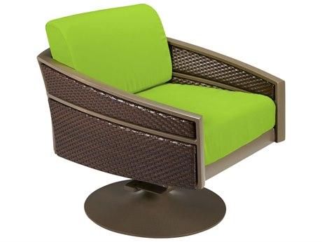 Tropitone Mixx Woven Cushion Swivel Rocker Lounge Chair