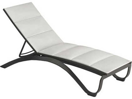 Tropitone Twist Padded Sling Aluminum Chaise Lounge