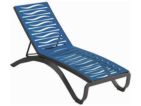 Tropitone Twist Strap Wave Segment Aluminum Chaise Lounge