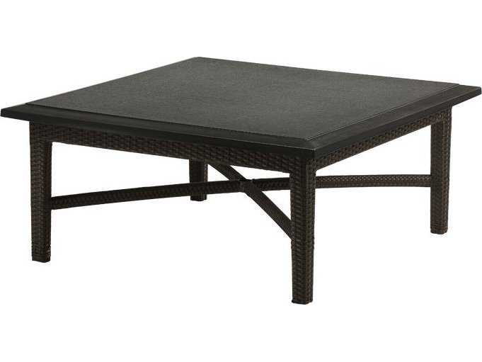 Tropitone Evo Woven 42 Square Stone Top Coffee Table 360940bh