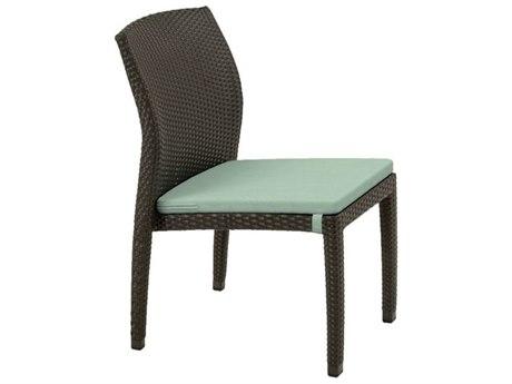 Tropitone Evo Woven Wicker Cushion Side Chair with Seat Pad