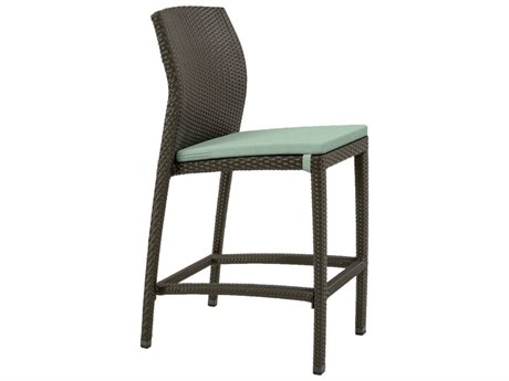Tropitone Evo Woven Armless Bar Stool with Seat Pad