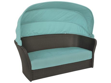 Tropitone Mia Wicker Lounger with Shade