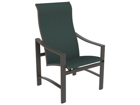 Tropitone Kenzo Sling Aluminum High Back Dining Arm Chair