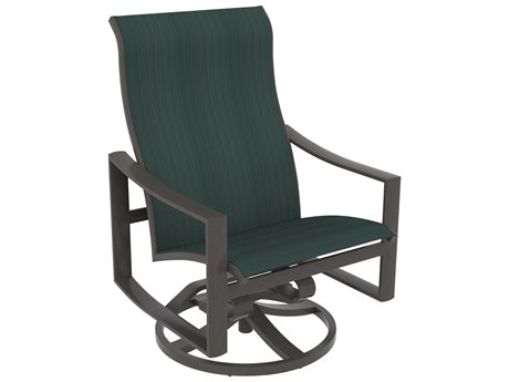 Tropitone Kenzo Sling Aluminum Swivel Rocker Lounge Chair