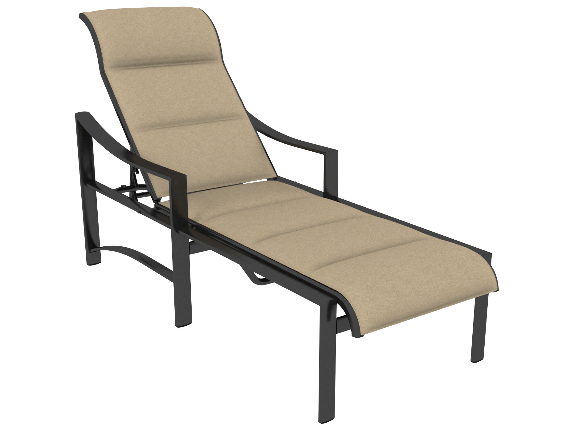 Tropitone kenzo padded sling aluminum chaise lounge 381532ps for Aluminium chaise lounge
