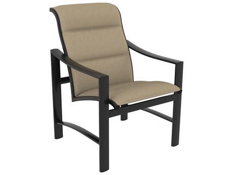 Tropitone Kenzo Padded Sling Aluminum Dining Arm Chair