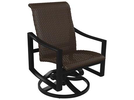 Tropitone Kenzo Woven Swivel Rocker Dining Arm Chair