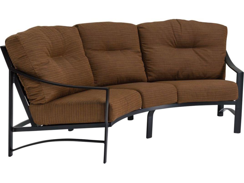 Tropitone Kenzo Cushion Aluminum Crescent Sofa | 391410CS