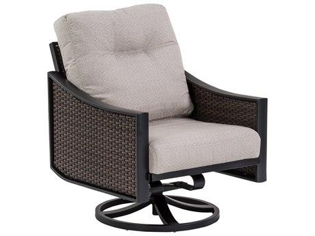 Tropitone Kenzo Woven Cushion Swivel Rocker Lounge Chair
