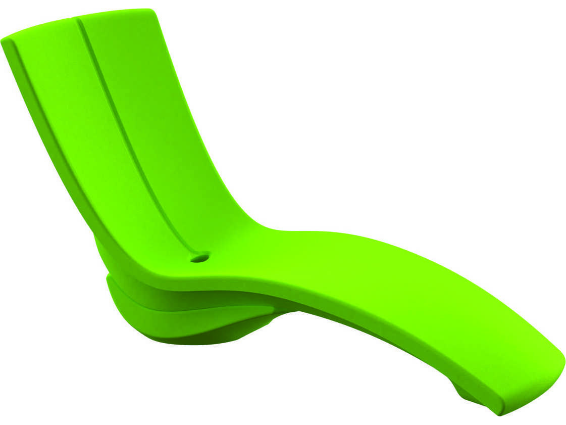 Tropitone curve recycled plastic rotoform3 chaise lounge for Chaise plastique