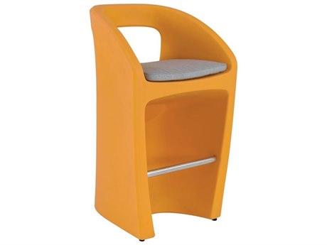 Tropitone Radius Marine Grade Polymer Bar Stool with Seat Pad