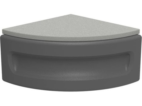 Tropitone Radius Modular Marine Grade Polymer Curved Ottoman with Pad
