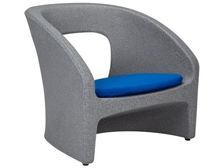 Tropitone Radius Marine Grade Polymer Resin Sand Lounge Chair with Seat Pad