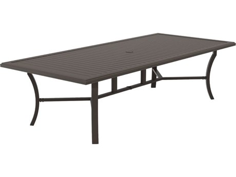 Tropitone Banchetto 108 x 48 Rectangular KD Dining Umbrella Table