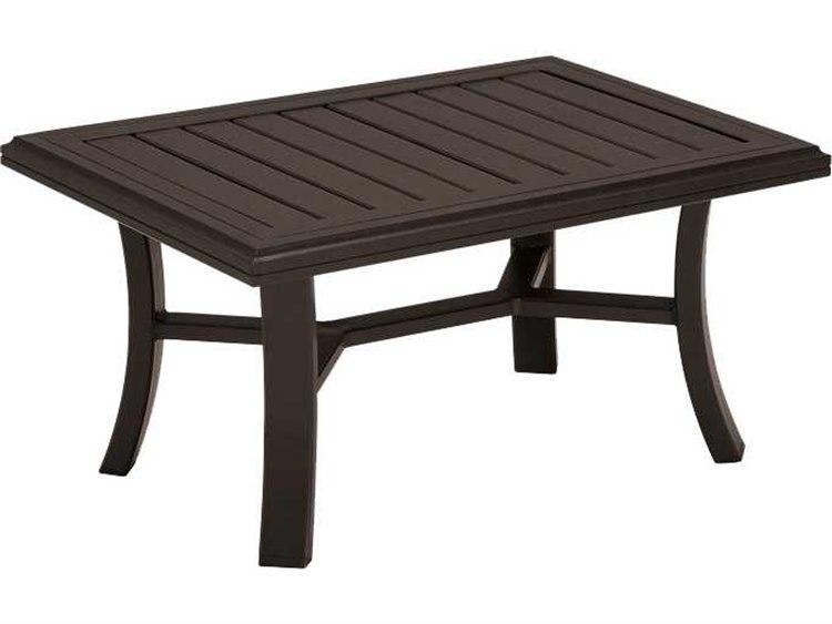 Coffee Table 36 X 24.Tropitone Banchetto Aluminum 36 X 24 Rectangular Coffee Table