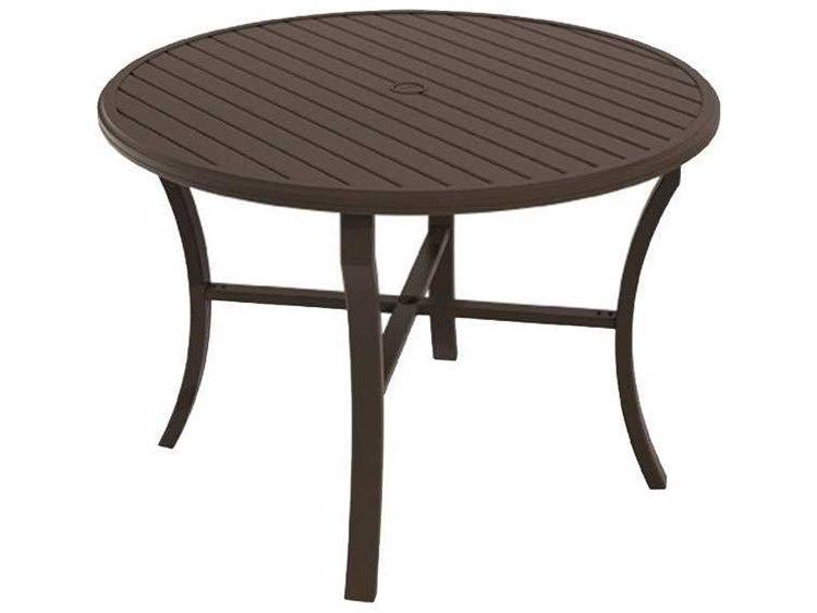 Tropitone Banchetto Aluminum 54 Round Counter Table with Umbrella Hole