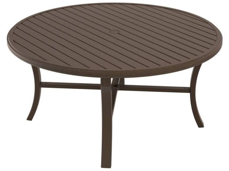 Tropitone Banchetto Aluminum 60 Round Dining Table With Umbrella Hole    401161U