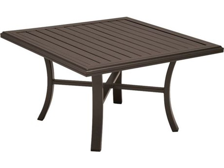 Tropitone Banchetto Aluminum 42 Square Chat Table