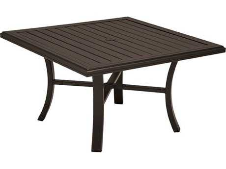 Tropitone Banchetto Aluminum 42 Square Chat Table with Umbrella Hole